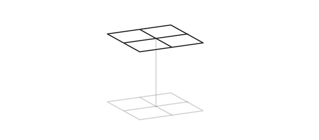 draw second base of a cube