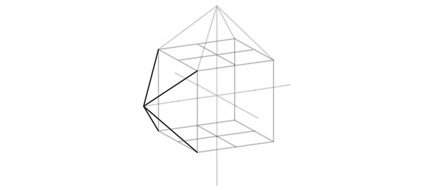 draw pyramid on the side