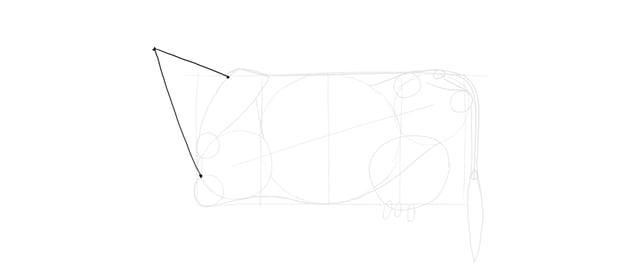 draw cow neck triangle