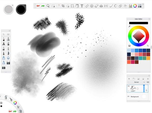 autodesk sketchbook interface