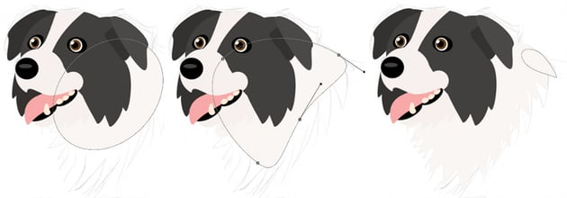 how to create vector dog neck