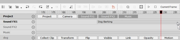 how to add dog bark in cta3