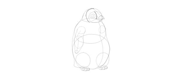 draw baby penguin pattern
