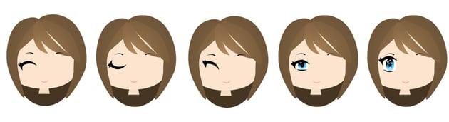 types of chibi eyes