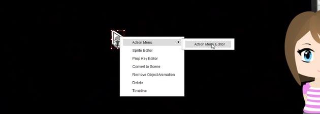 action menu editor