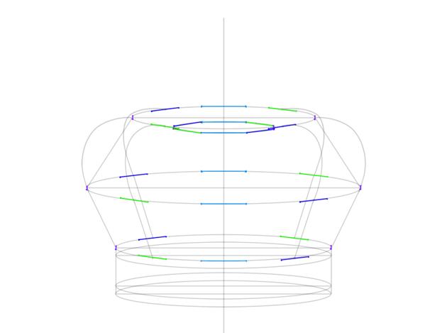 plan of arch widths