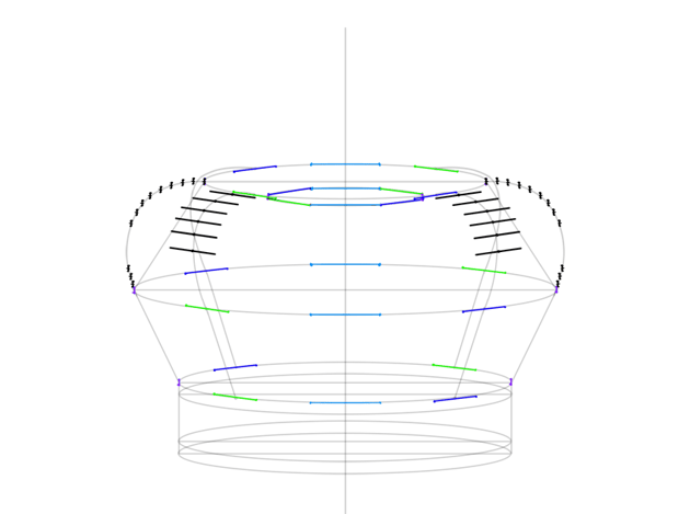 plan of back arch widths