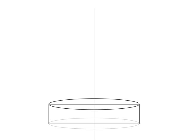flat cylinder drawing