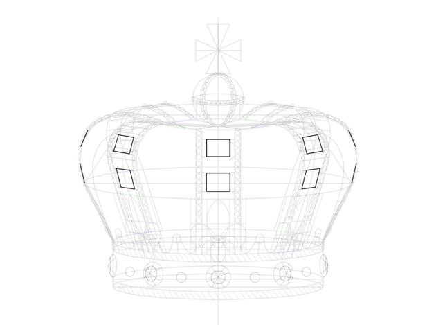 rectangular base of jewel