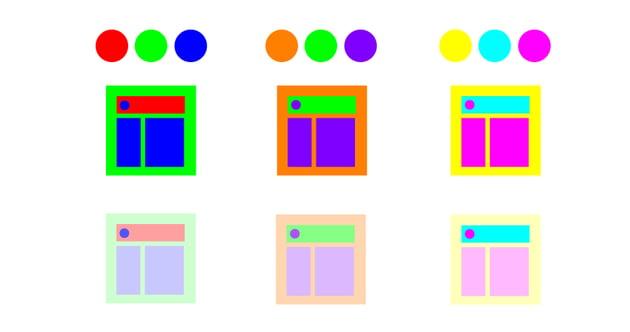 color harmonies too bright