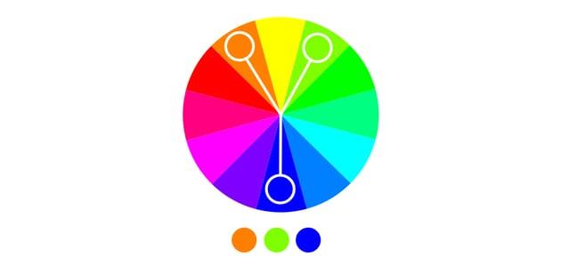 split complementary color scheme