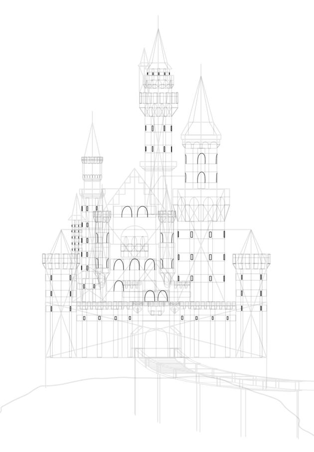 draw castle windows
