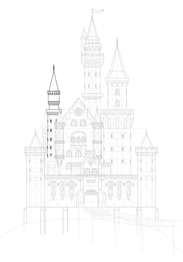 draw other castle structures