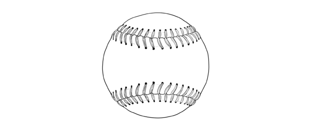 how to draw a baseball step bystep