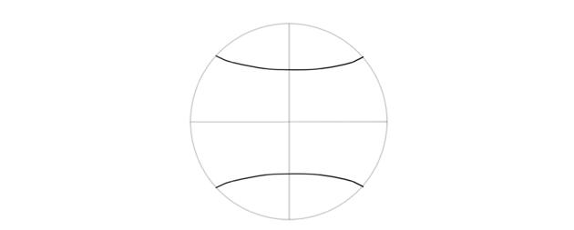 symmetrical arches on circle