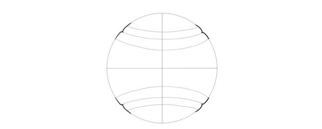 draw indentation of baseball