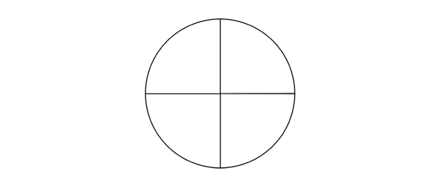 circle with diameters marked