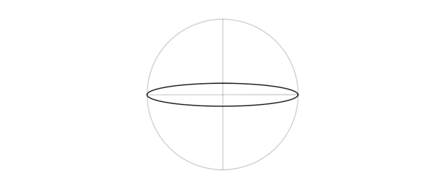 draw narrow ellipse