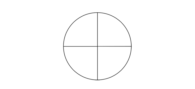 circle with diameters crossing