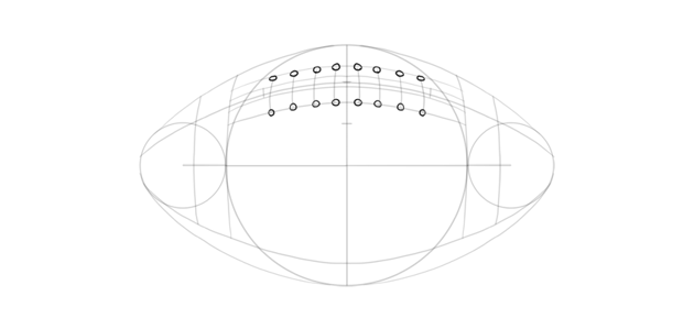 draw holes for lace