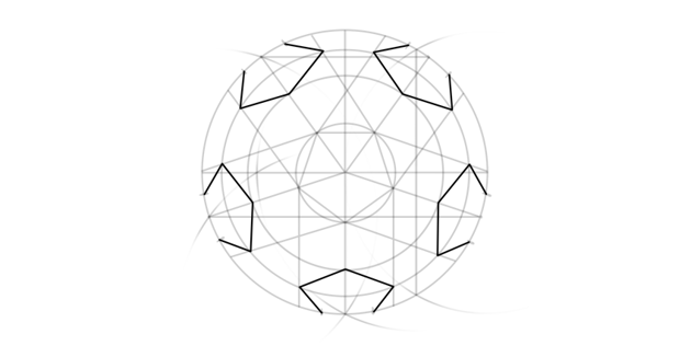 draw pentagons in perspective