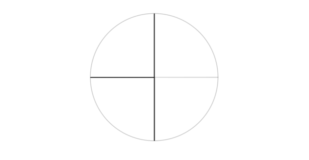 circle with perpendicular diameters