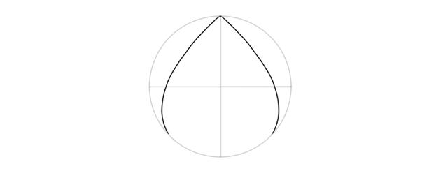 teardrop shape