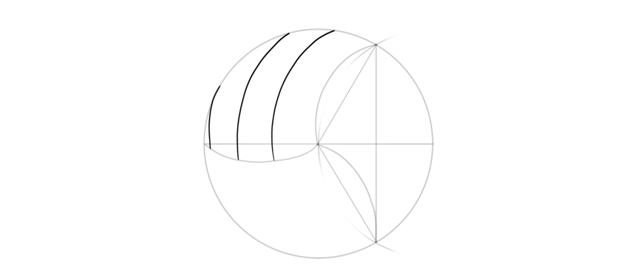 draw curves of volleyball