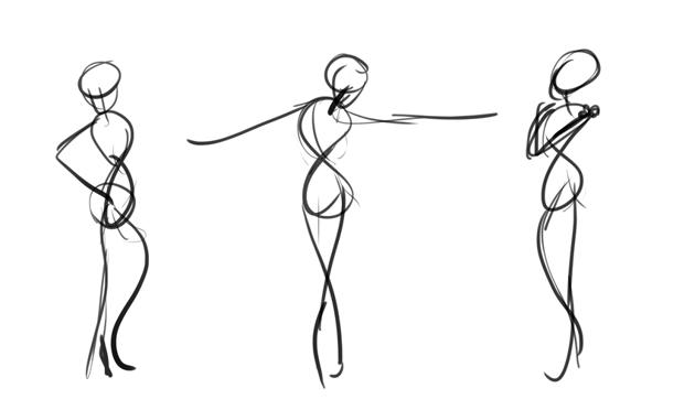 disney gesture drawing