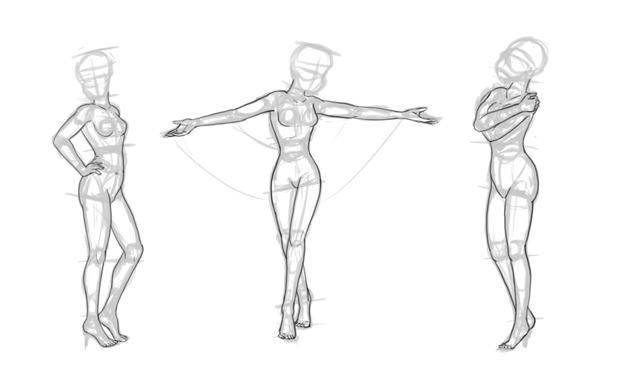 how to draw disney body