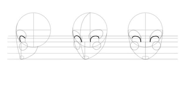 draw upper eyelids