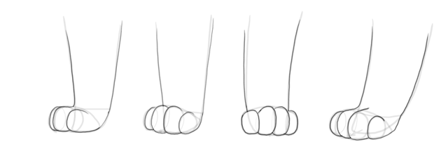 how to draw cat paw