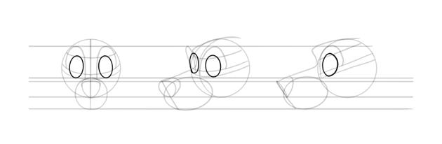 draw big dog eyeballs