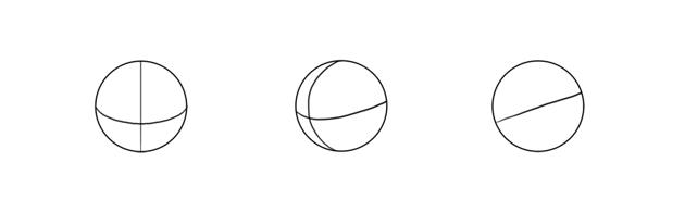 draw spherical cranium