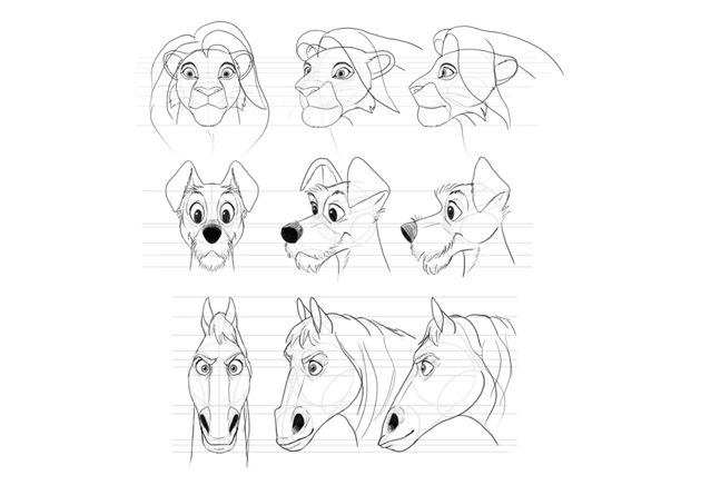how to draw disney animal characters