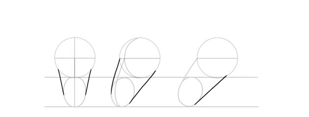 draw horse head shape