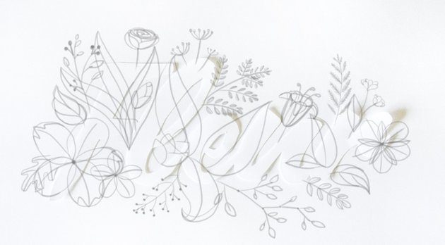 draw many big leaves