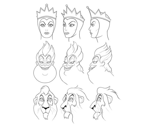 how to draw disney villains