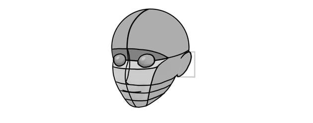 manga ear proportion