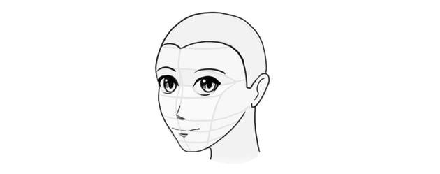 how to draw manga head tutorial
