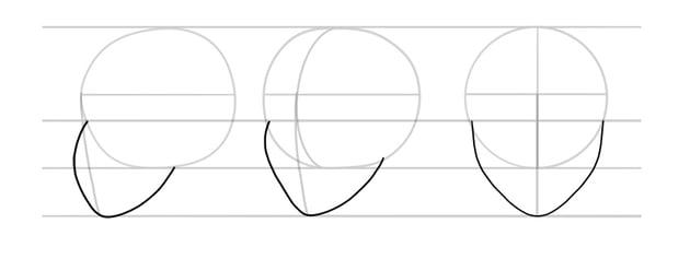 manga proportions head side view