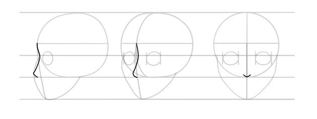 manga nose side view
