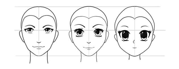 manga face styles