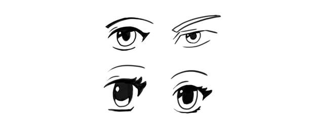 manga eyes eyelid crease