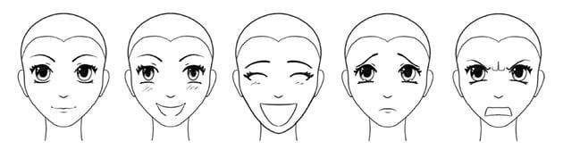 manga facial expressions how to draw