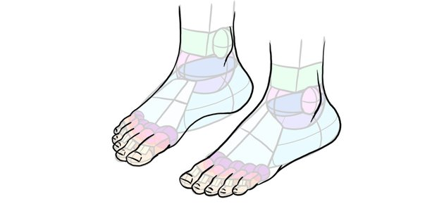 how to draw feet in perspective
