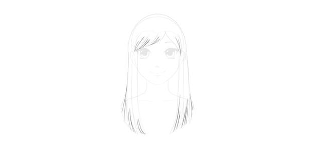 draw hair detail