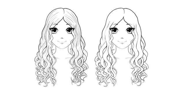 how to draw manga wavy hair