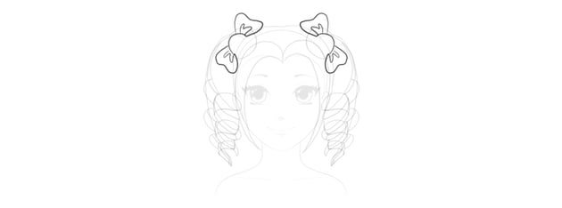 draw anime bows