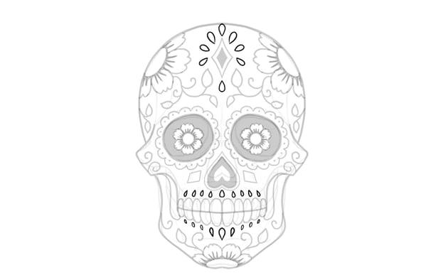 decorate sugar skull